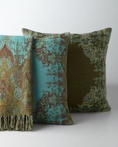 """""""Agra"""" Throw & Accent Pillows from Horchow - I have a weakness for pillows & throws.  Beautiful colors!"""