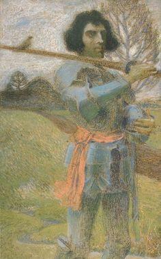 Jan Preisler (1872-1918), Le Chevalier Errant - 1898 Prince, Paul Gauguin, Postmodernism, Figurative Art, Art Nouveau, Modern Art, Romantic, Bird, Fine Art