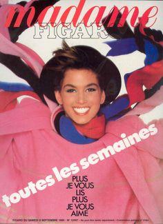 Madame Figaro 1984 Cindy Crawford