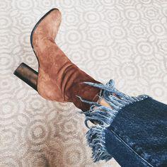 suede boots   @weworewhat) • Instagram