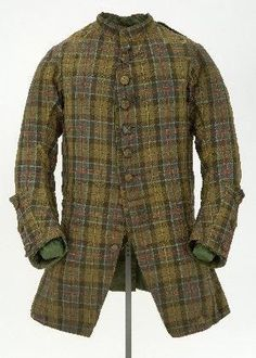 """This coat is often labeled the """"Culloden tartan"""", though the only evidence of this is oral tradition.  It dates to the 1740s, and is extremely rare. It's in the collection of the Glasgow Museum:"""