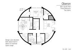 Floor Plan: DL-3216   Monolithic Dome Institute