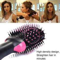 Comb❓🤔 YES,it& also a Hair Dryer and Stylist❗🤩 Dry and Style your hair at the same time,which could save a lot of your time every morning❣💋 Curly Hair Styles, Natural Hair Styles, Natural Curls, Tips Belleza, Hair Tools, Hair Styling Tools, Styling Brush, Hair Brush, Bob Hairstyles