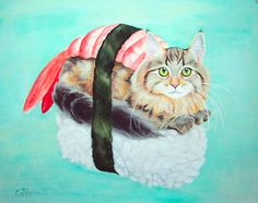 Take two things that are good, mix them together, get something even better. We've taken our two great loves, food and cats, and found ten amazing illustrations of kitties as junk food, sushi, and more. If you're a feline-loving foodie,...