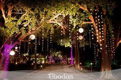Decoración realisada por Six Sens en la Hacienda Chichi Suarez en Yucatán. / Cristal strings hanging from the trees in the hacienda Chichi Suarez. #weddingideas #weddingdecoration #weddingdestination #mexicoweddingplanning #weddingdesign #yucatanweddingplanning