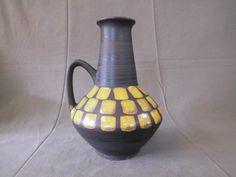 Carstens Vase 1507-27 square patterns 60er 60s Design w. german pottery wgp  | eBay