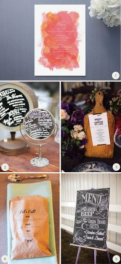 10+Ideas+for+your+Wedding+Menus+by+laurensaylor+for+Julep