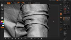 ZBrush Detailing Clothes - Select Polygroups by UV + NoiseMaker