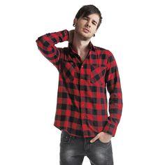 "Urban Classics Hemd ""Checked Flanell"" Männer schwarz/rot - jetzt kaufen! EMP"