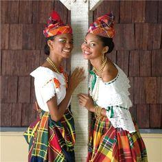 Guadeloupe & Martinique : les costumes traditionnels des Antilles.