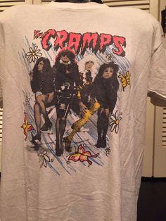 Femme Psychobilly T-shirt the cramps Rose Logo Violet Garage Horreur S-2XL