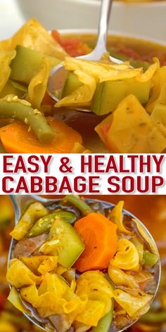 Cabbage soup is comfort food!