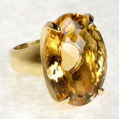 LARGE citrine ring - in Gold, preferrably this shape