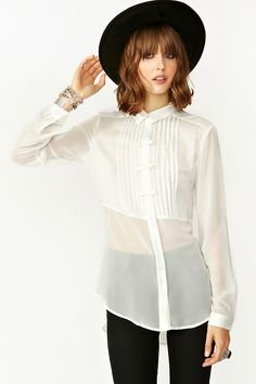 Chiffon Bow Blouse - I just bought this one from Nasty Gal, I love it!!