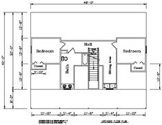 Second level floor plan for the Crestwood 1: 2,205 Square Feet. #steel #architecture
