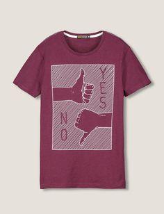 """T-shirt imprimé """"YES, NO"""""""