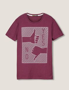 "T-shirt imprimé ""YES, NO"""