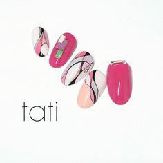 Fancy Nails, Love Nails, Trendy Nails, Geometric Nail Art, Japanese Nail Art, Nail Patterns, Beautiful Nail Designs, 3d Nails, Nail Tutorials