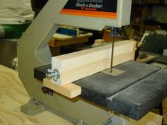 Easy fence for the band saw. Just add an aux. face on the fence that can adjust for blade drift.