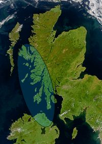 Dál Riata (also Dalriada or Dalriata) was a Gaelic overkingdom on the western coast of Scotland (then Pict-land) and part of Ulster. In the late 6th and early 7th century it encompassed roughly what is now Argyll and Bute and Lochaber in Scotland and also County Antrim in Northern Ireland