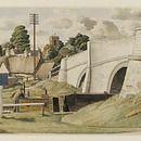 Stoke Bruerne, Northamptonshire; Recording Britain (Watercolour)