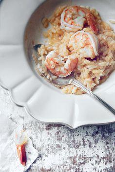 Klasyczne risotto z krewetkami