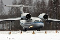 Antonov An-72 short-takeoff-and-landing military transport - NATO reporting name Coaler