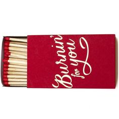 Set the mood this Valentine's Day with some nice candles and the Burnin' for You Matchbox