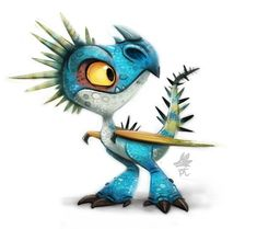 Daily Paint HTTYD Stormfly by Cryptid-Creations on deviantART ★ Find more… Dinosaur Illustration, Cute Illustration, Cute Animal Drawings, Art Drawings, Illustrator, Cute Dragons, Cute Monsters, Dragon Art, How Train Your Dragon