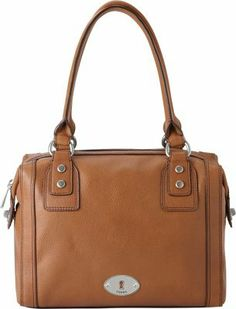 """From Fossil, the Marlow satchel features: leather top zip closure shabby silvertone hardware back wall zip pocket and 2 slide pockets inside 11.5(L) x 10.25(H) x 6(D)"""""""