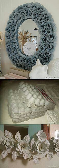 Egg Carton Ideas - Informations About Ideas con Cartón de Huevos Pin You can easily use my profil - Flower Crafts, Diy Flowers, Paper Flowers, Flower Making Crafts, Organza Flowers, Diy And Crafts, Arts And Crafts, Paper Crafts, Diy Projects To Try