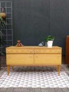 ≥ Vintage tv-meubel j 60 Dressoir 112 cm design lowboard retro - Kasten Vintage Tv, Modern Design, Bench, Cabinet, Storage, Furniture, Home Decor, Clothes Stand, Purse Storage