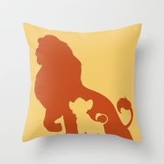 The Lion King Throw Pillow by Citron Vert - $20.00