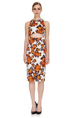 Cutout Floral Dress by Suno - Moda Operandi