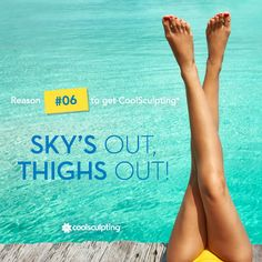 Time to say goodbye to unwanted thigh fat with CoolSculpting! #SkinLaze #LipoSpa #coolsculpting