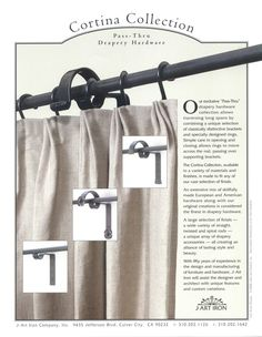Finishes BRADLEY Iron Drapery Hardware Pinterest Access