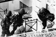 The May 5, 1980 hostage rescue operation at the Iranian Embassy at 16 Princess Gate in London conducted by fifty-five operators of The 22nd Special Air Service. To this day considered by many to be the gold standard of hostage rescue operations. Despite the inevitable foul ups and unexpected turns they remained fluid and advanced aggressively saving lives. Names like Rusty Firmin and John McAleese were etched into legend that day.