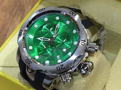 170ee6b5a553 6105 Invicta Reserve Mens Venom Swiss Quartz Chronograph Green Dial Strap  Watch. HombresVenenoCronógrafoMarcadoresEnvolver RelojesPulseras ...
