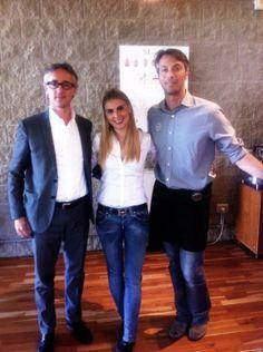 Chiara Bergonzi con Enrico Vergnano e Damian Burgess