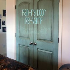 Beautifully painted pantry door Just Add Paint Pinterest
