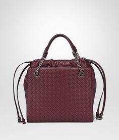 SMALL TOTE BAG IN BAROLO NAPPA WITH INTRECCIATO DETAILS Small Tote Bags b1c3c72b5f0cd