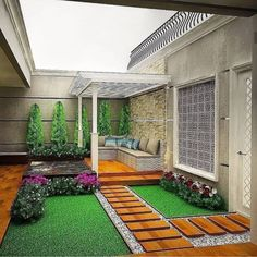 35 Nice Minimalist Backyard Landscaping Design Ideas You Will Love - You have decided that it's high time you did something for your backyard. For many years now, it has been bare, save for a few of your kids' toys and . Small Backyard Gardens, Backyard Patio Designs, Small Backyard Landscaping, Outdoor Gardens, Minimalist Garden, Interior Garden, Small Garden Design, Terrace Garden, Landscape Design