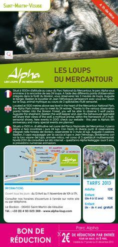 Parc Alpha Le parc des loups dans le mercantour