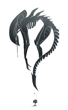 Xenomorph Tribal Tattoo Striking on pinterest xenomorph phoenix and ...