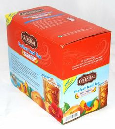 Celestial Seasonings Sweet Peach Iced Tea 48 K-cups for Keurig Brewers