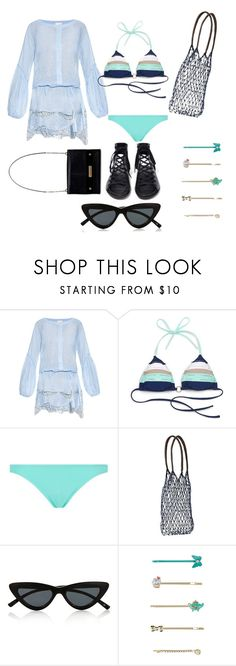 """""""QUICK ISLAND GETAWAY 2017"""" by michelle858 ❤ liked on Polyvore featuring Emamò, Sperry, Melissa Odabash, Jeffrey Campbell, Athleta, Le Specs and Accessorize"""