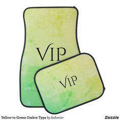 Yellow to Green Ombre Type Car Floor Mat