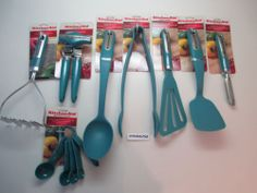 Kitchenaid Turquoise Blue Green Kitchen Utensils