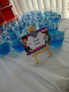 Paw Patrol water bowls (jello) bday party for the girls Girl Paw Patrol Party, Paw Patrol Birthday Girl, Puppy Birthday, Fourth Birthday, 6th Birthday Parties, Birthday Ideas, Fete Julie, Cumple Paw Patrol, Puppy Party