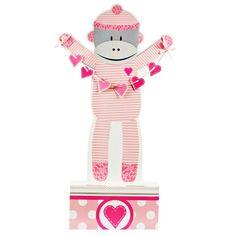 Sock Monkey Pink Standup